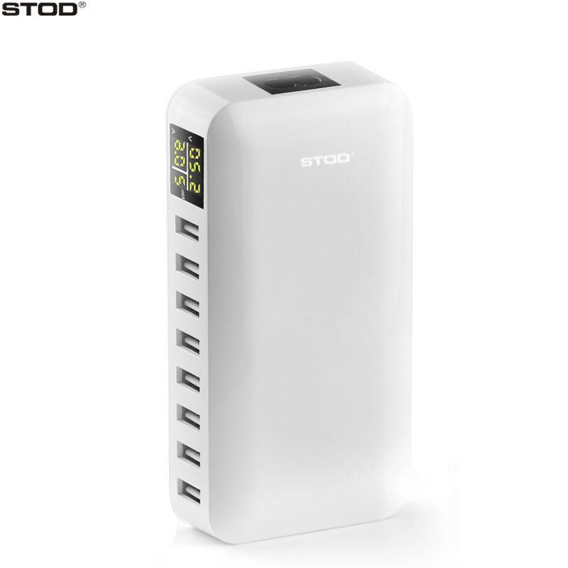 STOD 8 chargeur port usb 40 W écran lcd contrôleur de tension Intelligent De Charge Pour iPhone iPad Samsung Huawei Nexus HTC AC Pour adaptateur dc