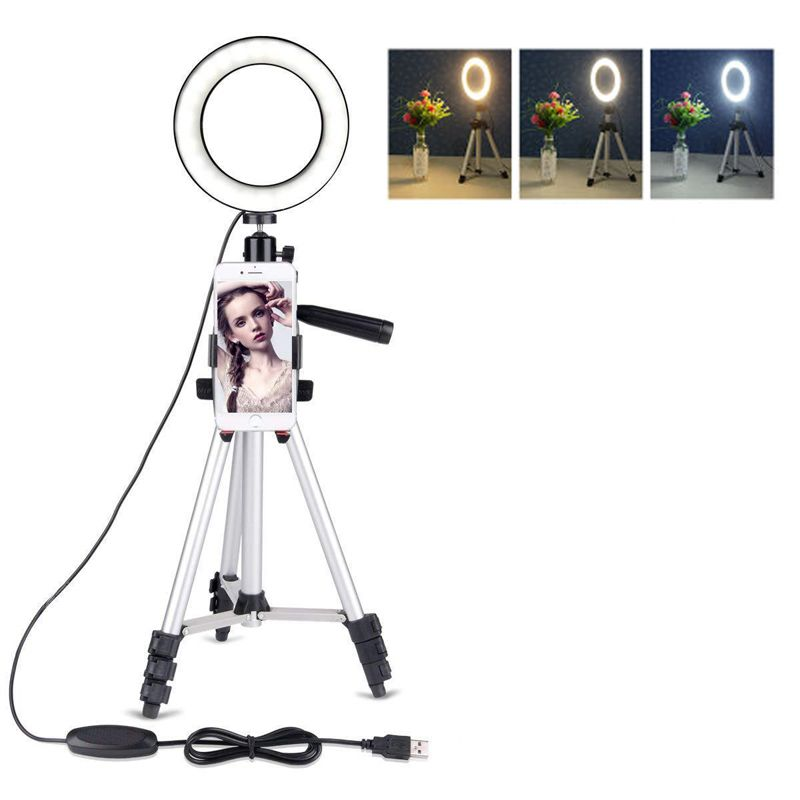 Photo Studio Phone Video LED Beauty Ring Light Photography Dimmable Ring Lamp+Tripod for Selfie/Live Show/Fill-in Light