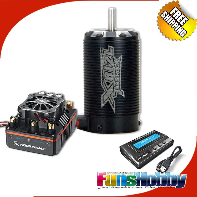 1/8 super permium power combo inkl. tenshock x812l sensor dc motor & xerun xr8 plus esc & programm-karte 3in1 für rc truggy wettbewerb