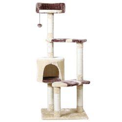 Domestic Delivery Pet jugando juguete escalada marco Kitten casa entrenamiento del gato muebles Scratching Post proveedor de productos para mascotas