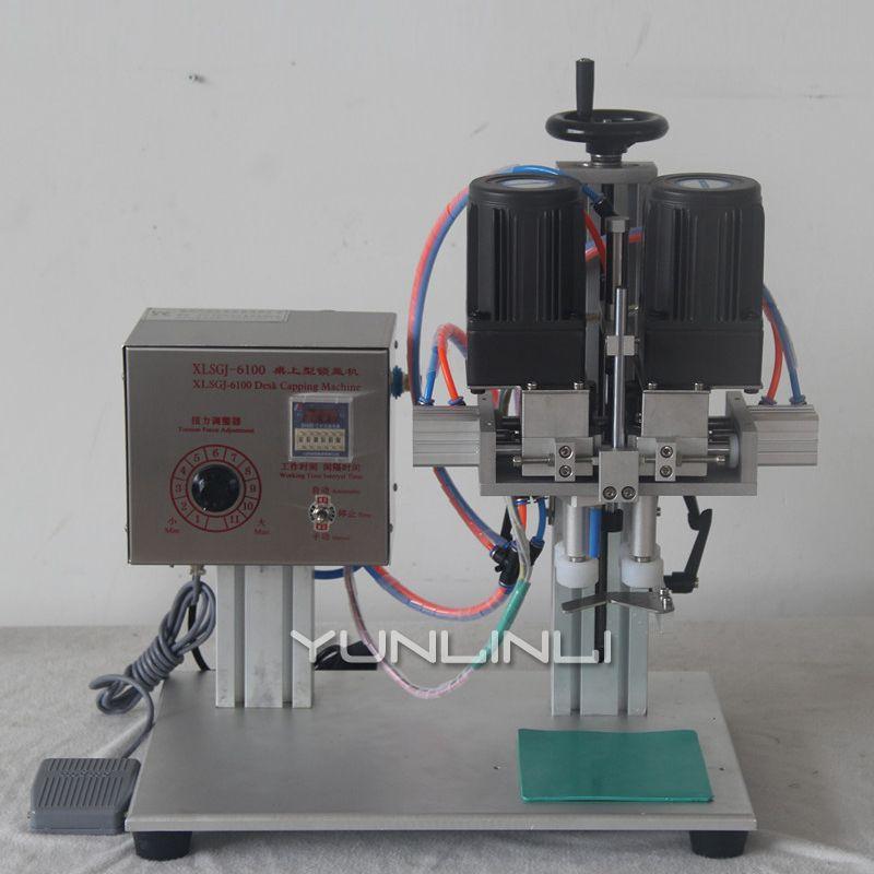 Capping Maschine Entenschnabel Abdeckung Locking Maschine Elektrische Manuelle Automatische Kappe Abdichtung Maschine Flasche Verpackung Ausrüstung
