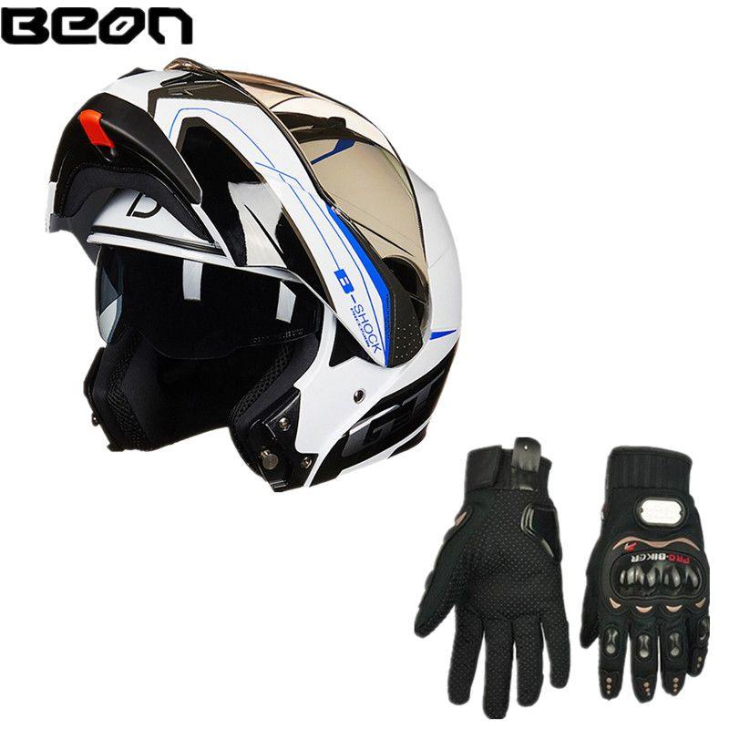 BEON B-700 Motorrad Helm Doppel Objektiv Volle Helm Motocross Flip-up Helm Anti-glare Kreuz Land Helm ECE + freies Handschuhe