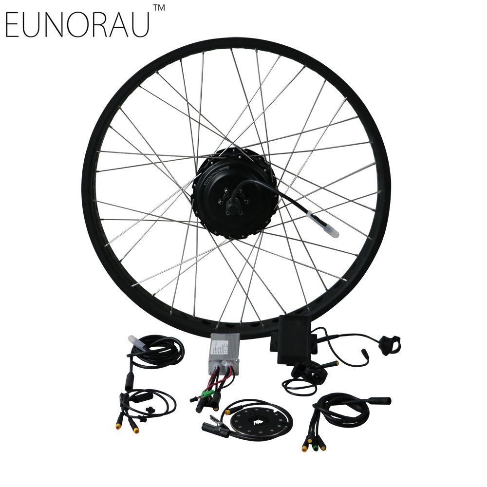 EUNORAU EBIKE DIY 36V500W shengyi DGW25C cassette rear Electric Bicycle Fat Conversion Kit 20''26