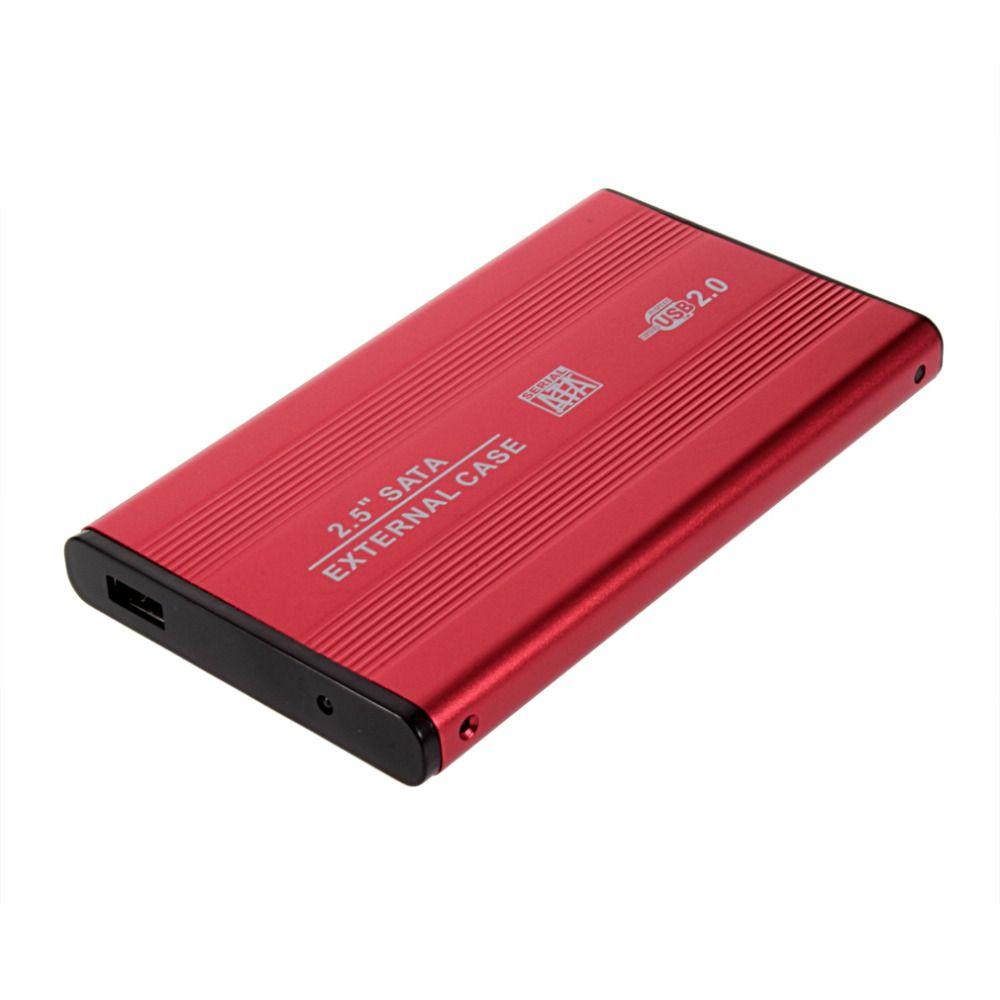 2.5 inch USB 2.0 SATA External HDD Case Hard Disk Enclosure for Notebook Laptop