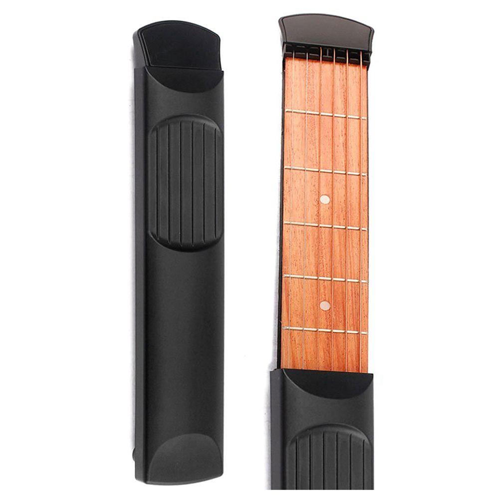 SYDS Portable poche guitare 6 Fret modèle en bois pratique 6 cordes guitare formateur outil Gadget pour les débutants