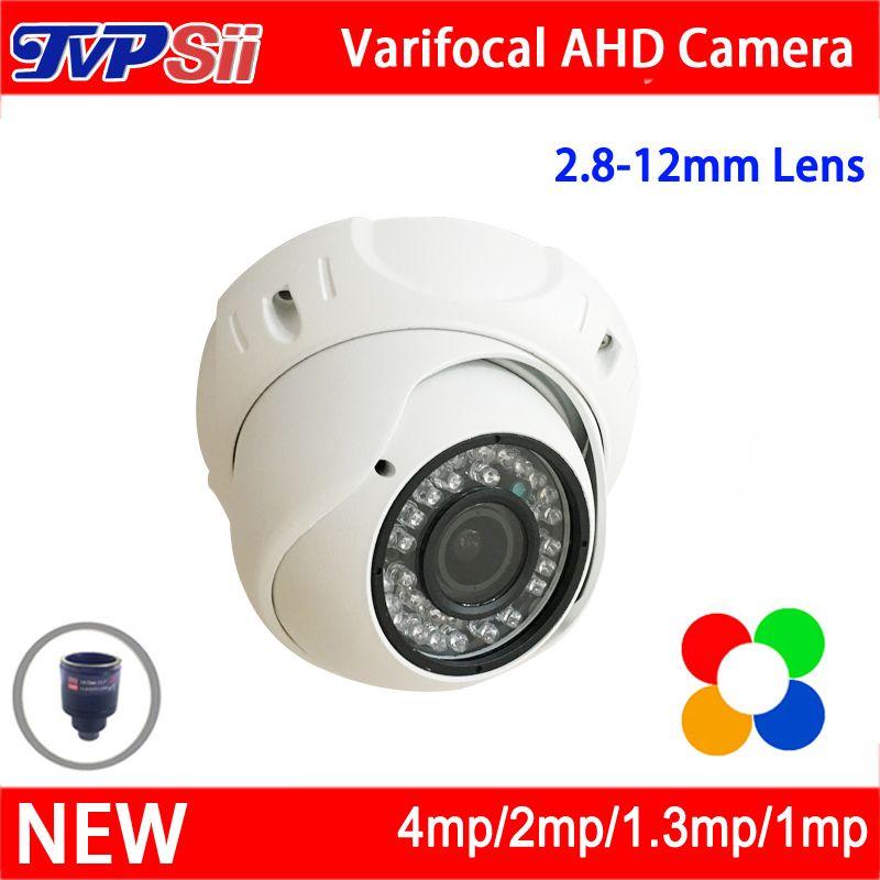 4pcs A Lot infrared Leds 5mp/4mp/2mp/1.3mp/1mp 2.8mm-12mm Varifocal AHD hemisphere Dome CCTV Surveillance Camera Free Shipping