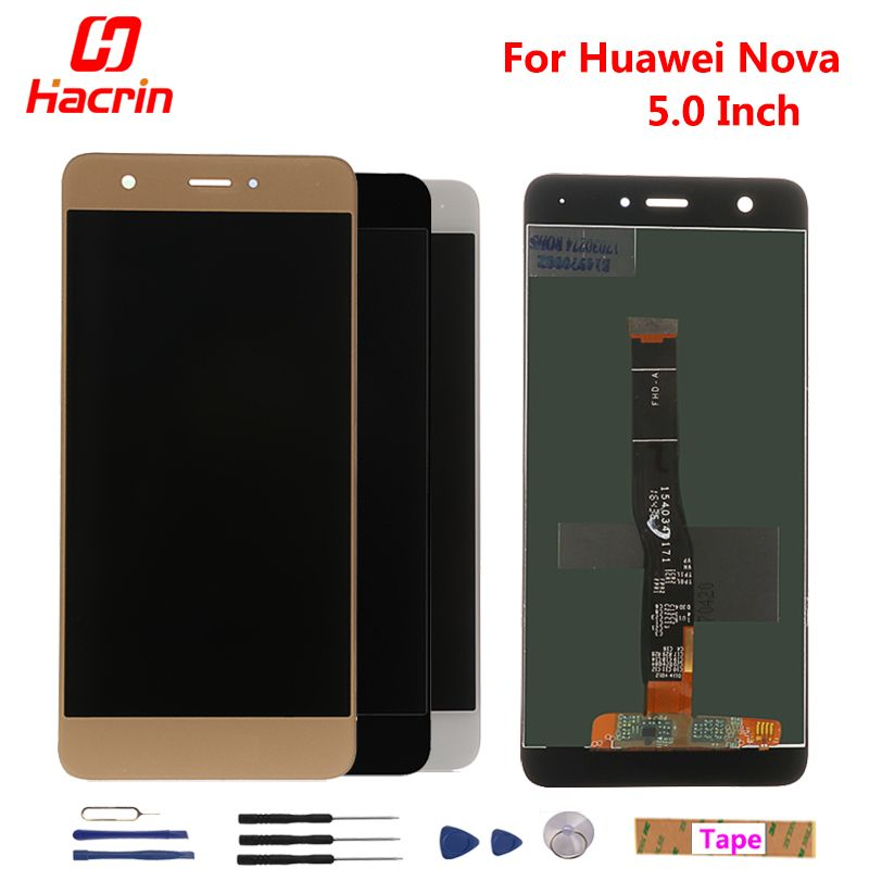 Huawei Nova LCD Display + Touch <font><b>Screen</b></font> 100% New Digitizer Assembly Replacement Accessories For Huawei Nova 5.0inch Phone