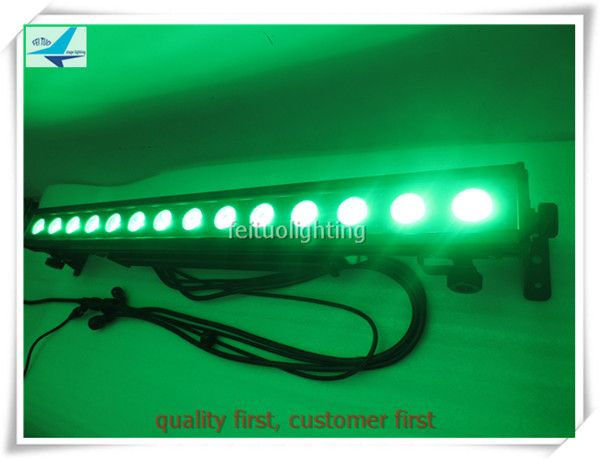 A-10/lot Waterproof colorful 14x30w 3in1 rgb high power led matrix light running bar light