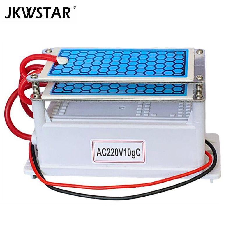 220 V 10g/5g Portable En Céramique générateur d'ozone Double Intégré Longue Vie plaque en céramique ozonateur air Eau Cleaner purificateur d'air