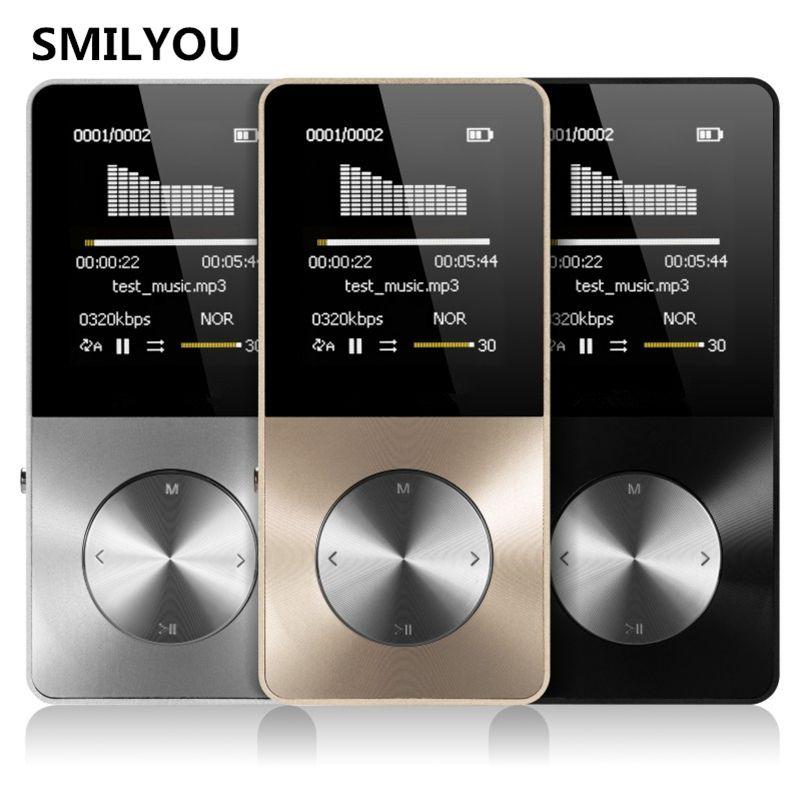 SMILYOU HiFi Metall MP4 Player Eingebauter Lautsprecher 4 GB 8 GB 16 GB 1,8 1,8-zoll-bildschirm kann Unterstützung 32 GB Sd-karte mit Video Alarm FM E-Book