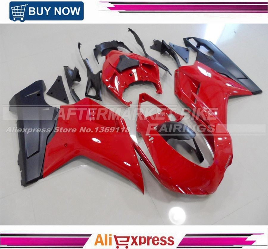 Gloss Red Injection Motorcycle Bodywork For Ducati 848 1098 1198 ABS Fairing Cover 100% Fitment