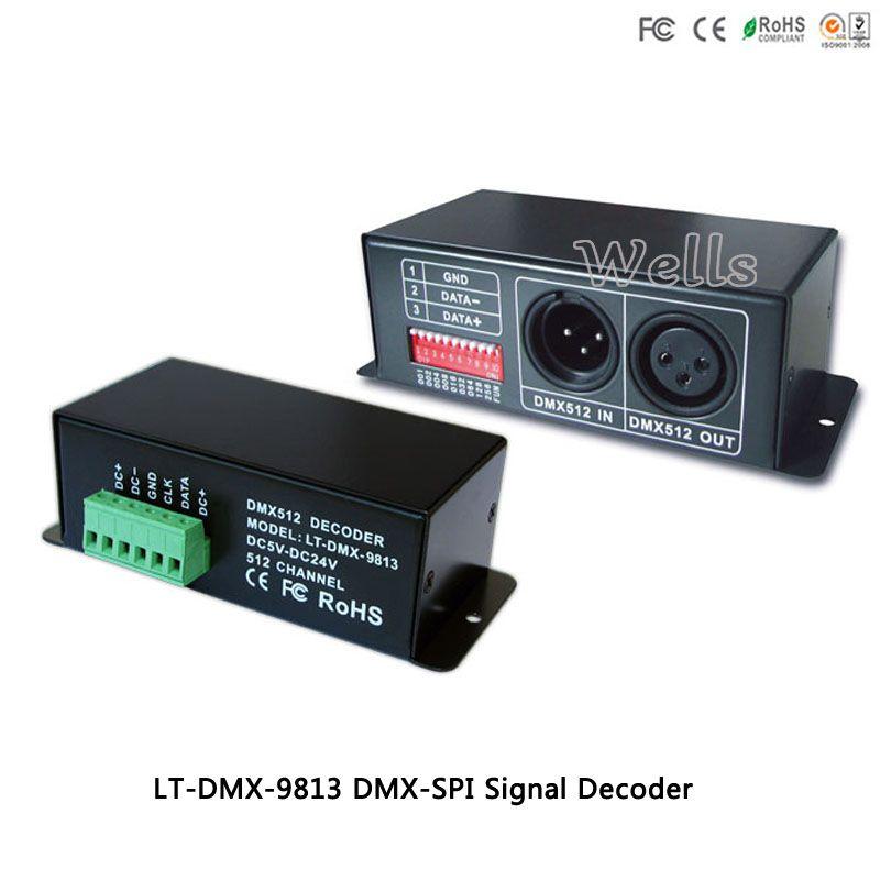 LT-DMX-9813 Led DMX-SPI Signal Decoder supports P9813 control DMX-SPI signal convertor for rgb led lamp/strip/digital tube