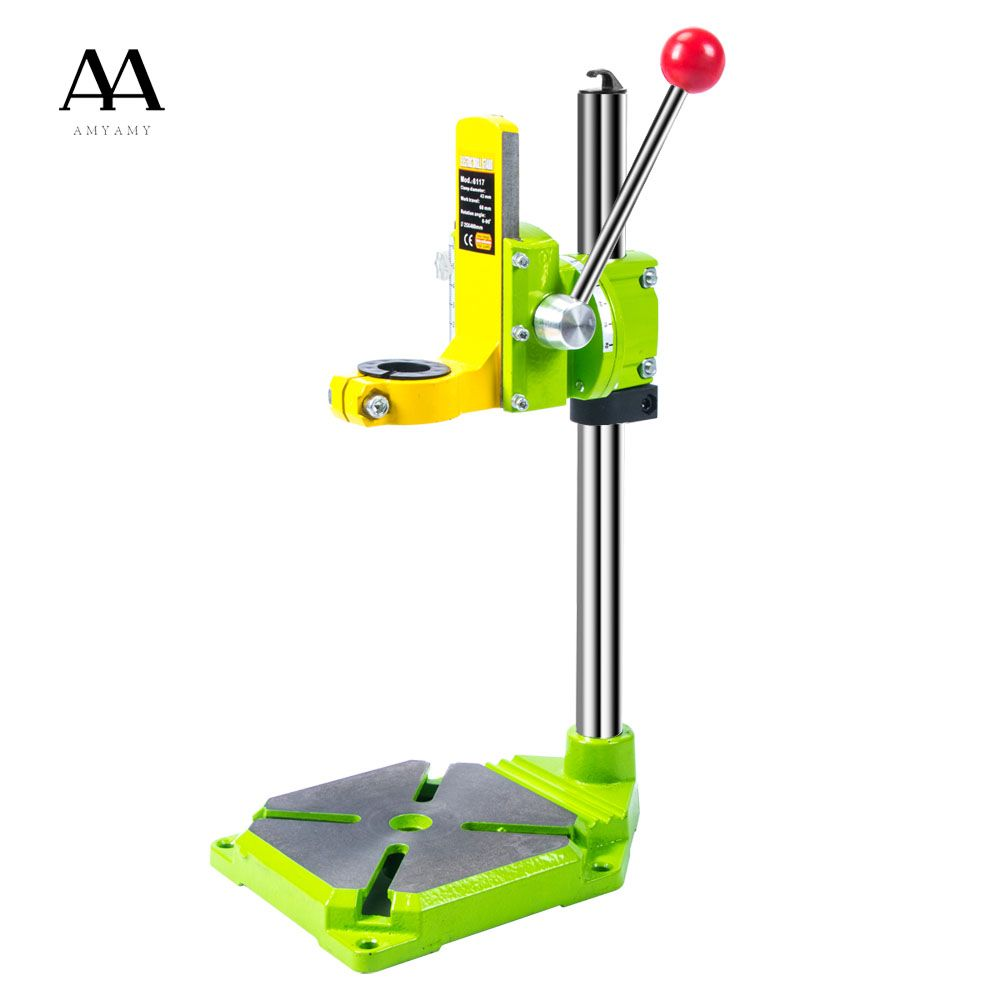AMYAMY Electric power Drill Press Stand for Drill Workbench Repair Tool Clamp for Drilling Collet Table 35&43mm 0-90 <font><b>degrees</b></font>