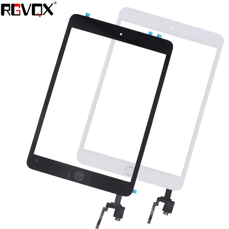 NEW Mini3 Touch Screen Digitizer For iPad Mini 3 A1599 A1600 A1601 TP IC with Home Button and Adhesive Front Glass Replacement
