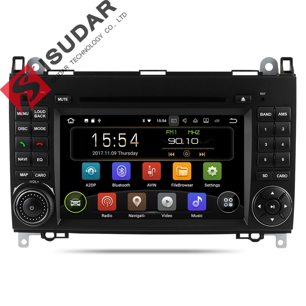 Isudar Auto Multimedia-Player GPS Android 8.1 2 Din DVD Automotivo Für Mercedes/Benz/Sprinter/B200/B -klasse/W245/B170/W169 Radio