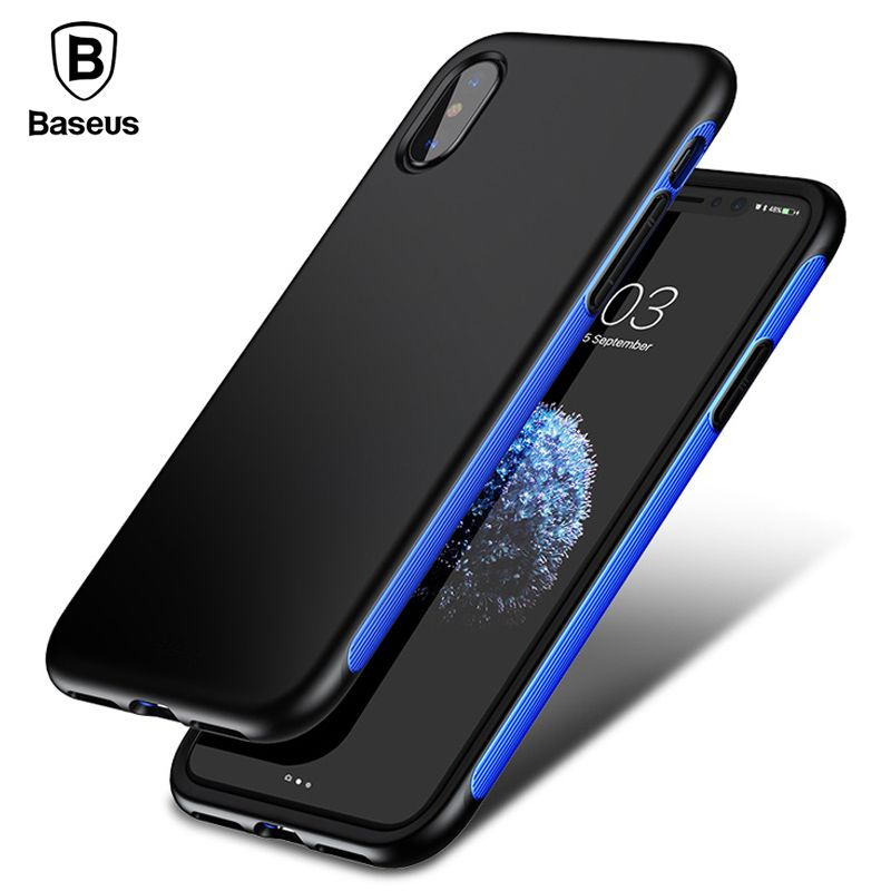 Baseus Armor Case For iPhone X 10 Capinhas Luxury TPU + TPE Protective Back Cover Bumper Case For iPhoneX Coque Funda Shell
