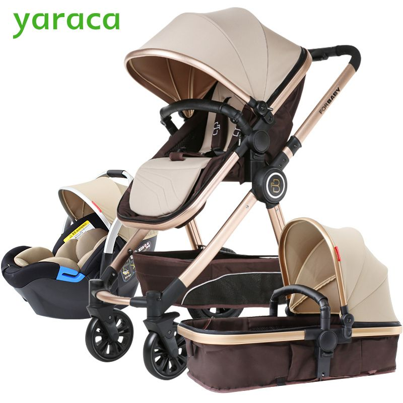 Baby Stroller 3 in 1 High Landscape Baby Carriages For Kids With Baby Car Seat Prams For Newborns Pushchair Baby Car