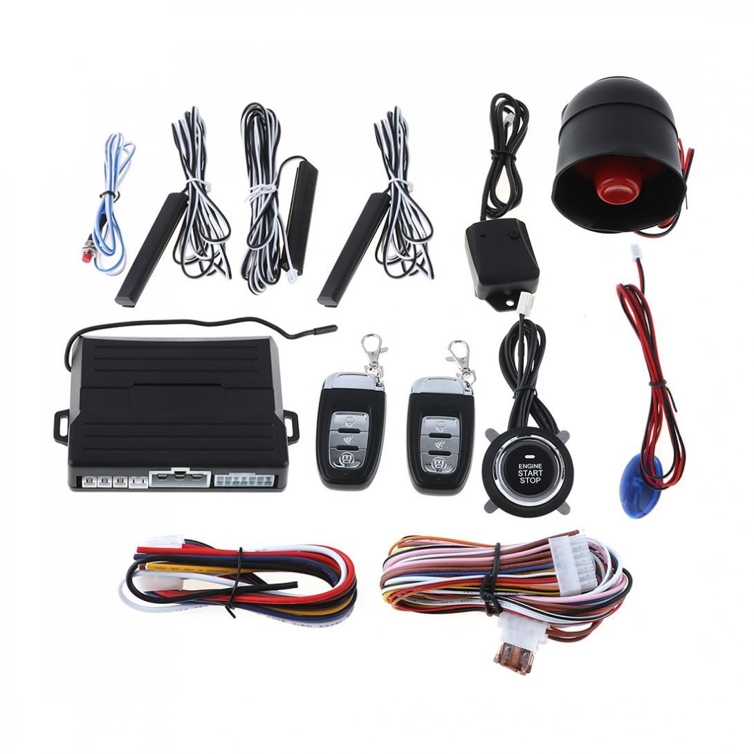 PKE Vehicle Car Smart Alarm Remote Initiating System Start Stop Engine System Auto Central Lock Keyless Entry Vibration Alarm