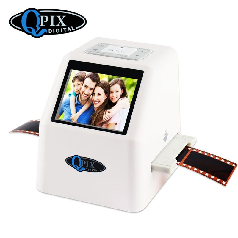 Portable Film Scanner Resolution 22 Mega Pixels 110 135 126KPK Negative Photo 35mm Scanner Digital Film Converter with 2.4