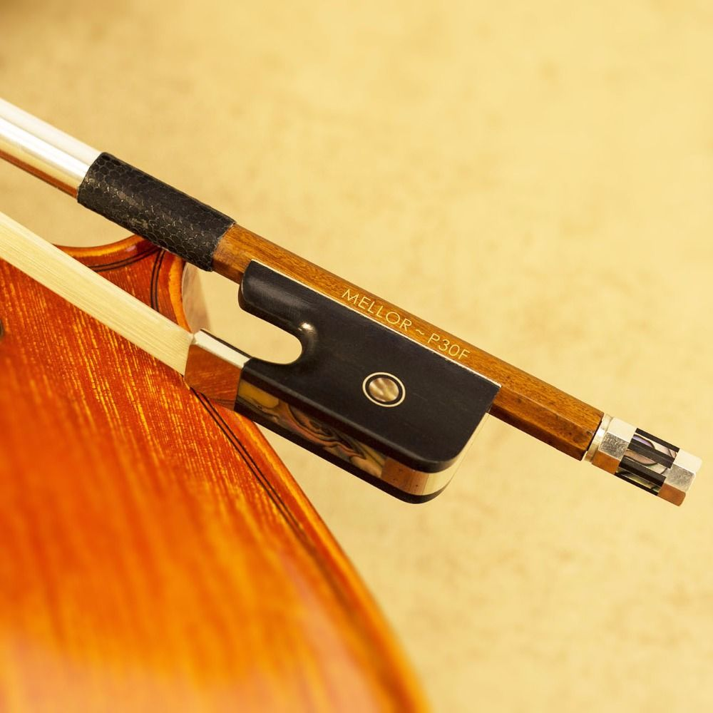 Pernambuco French Double Bass Bow 4/4 Size Natural White Horse Hair MELLOR Professional P30F *** SPECIAL 50% OFFER ***