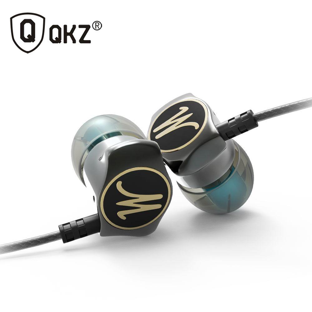 Écouteurs dans l'oreille écouteurs HiFi oreille téléphone écouteurs métalliques stéréo dans l'oreille écouteurs QKZ X10 alliage de Zinc suppression du bruit casques DJ