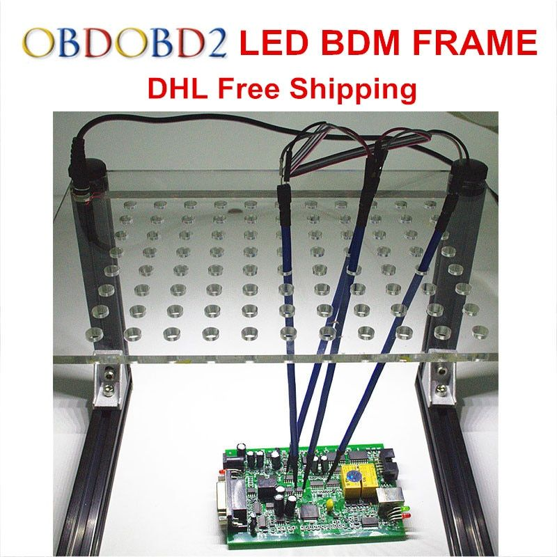Newest LED BDM Frame With 4 Probe Pens Full Set For KESS V2 KTAG FG TECH V54 BDM100 K-TAG Auto ECU Chip Tuning Tool DHL Free