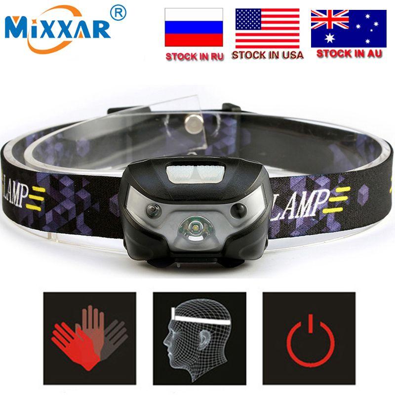 CZK20 Mini Rechargeable LED Projecteur 4000Lm Body Motion Sensor Phare Camping Lampe De Poche Tête Lumière Torche Lampe Avec USB