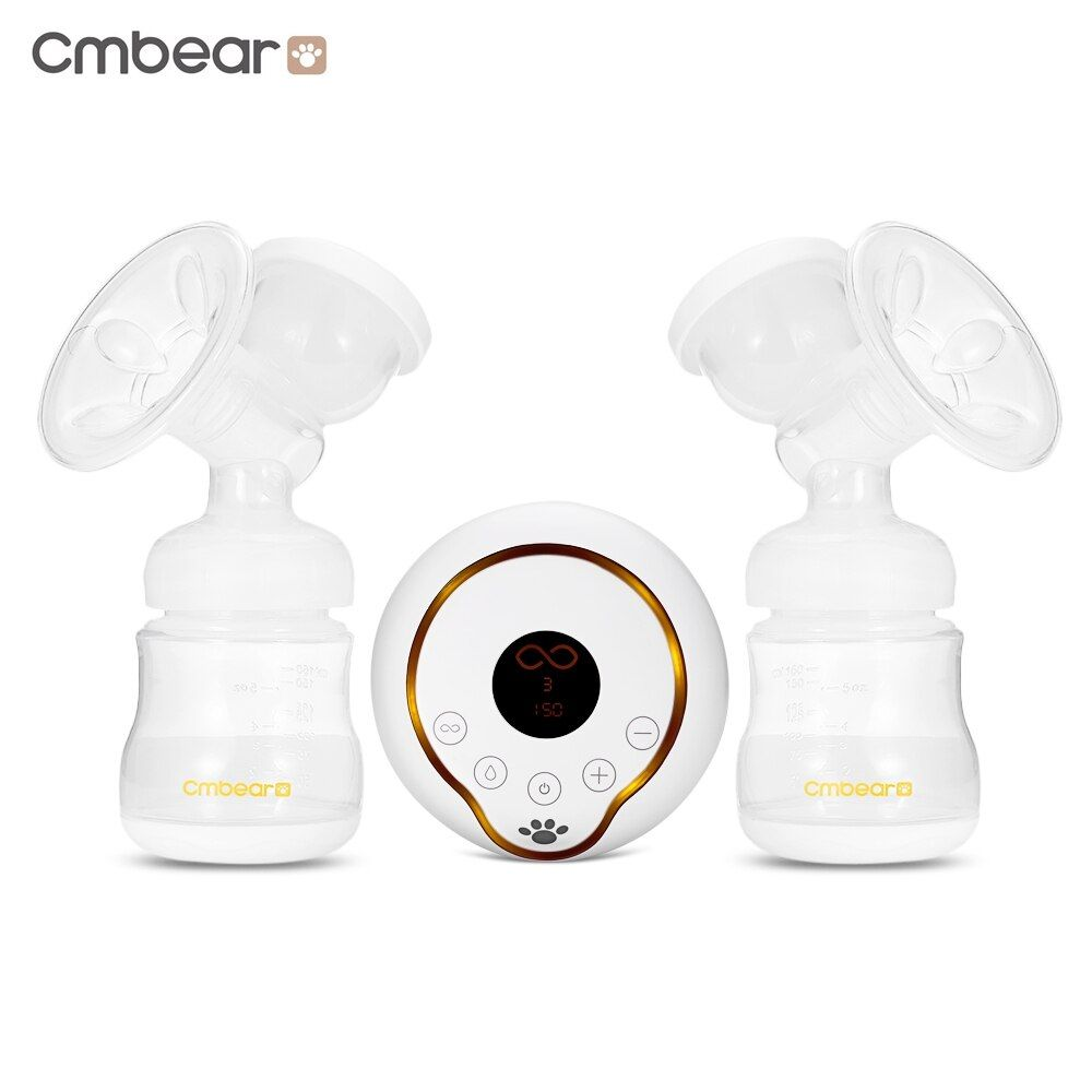 Cmbear Baby Breastfeeding LCD Display Double Breast Pump Milk Bottle PP USB Unilateral Convenient Powerful Breast Pumps Bottle