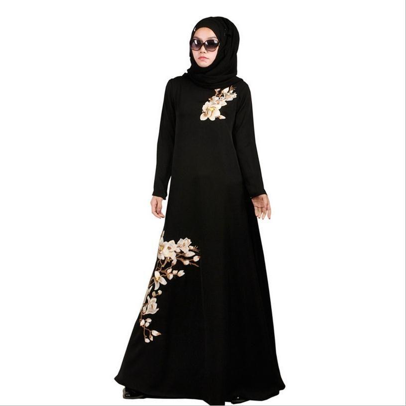 S-5XL plus size muslim adult female prayer abaya dressvestiti turchi turkish hijab abayas Bio-polishing islamic dress wj73
