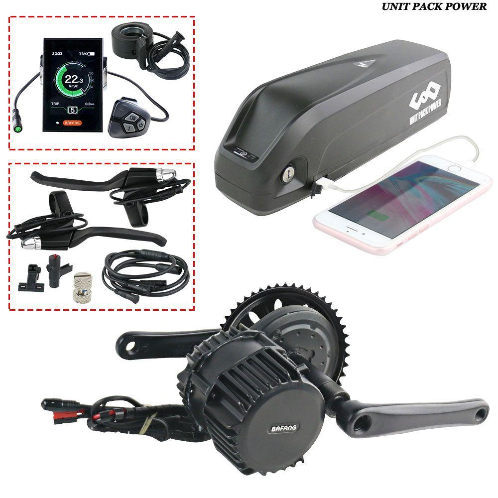 Bafang 1000 W BBSHD Motor mit 52 V 13Ah Ebike Batterie gesamte motor Kits C18 LCD mit Hailong 3 Batterie