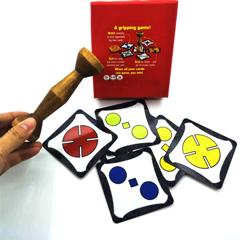 2018 board game gold wood jungle token run fast pair speed forest for party fun cards For Party/Family Game