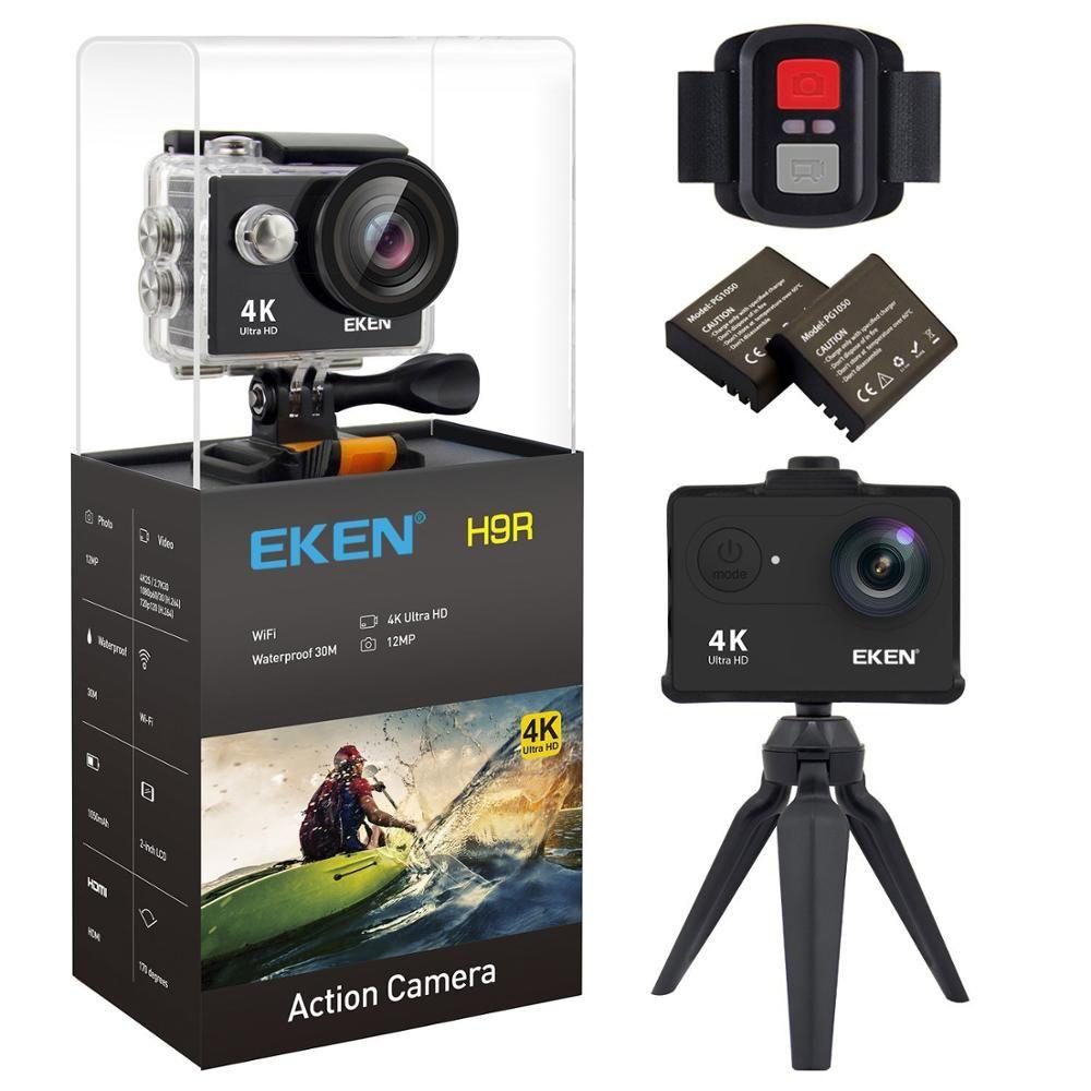 EKEN H9 H9R Original Action camera Ultra HD 4K 25fps 1080P 60fps go WiFi 2 170D underwater waterproof pro Helmet Sport cam