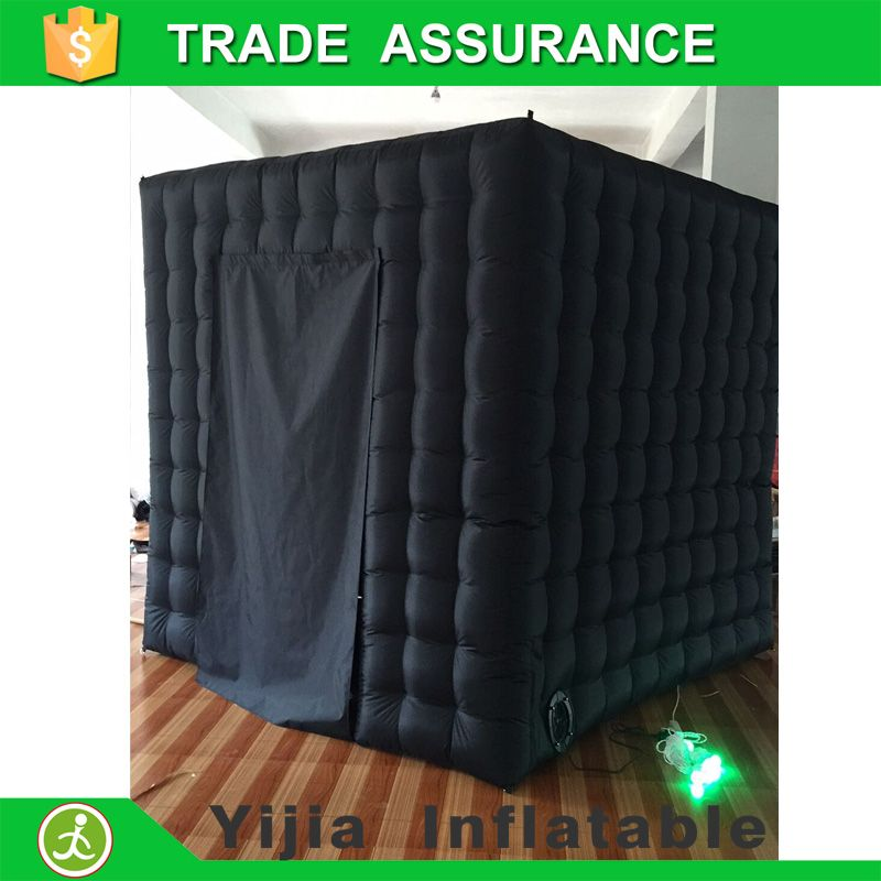 Free shipping oxford material inflatable photo booth black color photo booth backdrop