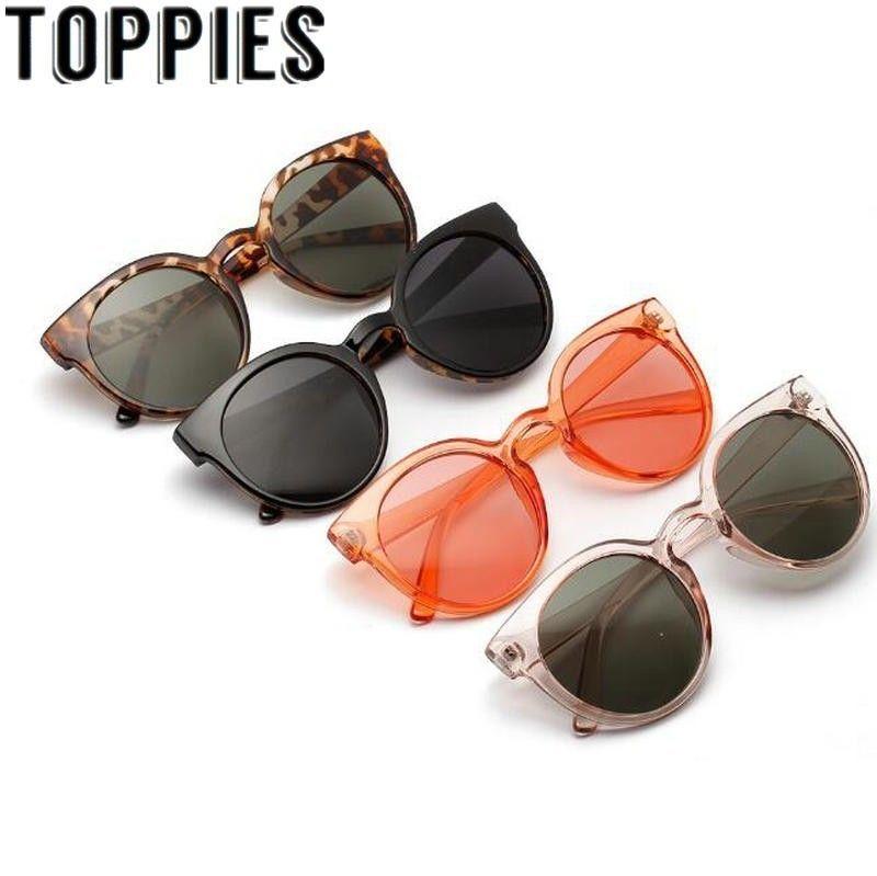 2019 femmes lunettes de soleil rondes été Uv protéger léopard lunettes de soleil rétro Vintage surdimensionné lunettes de soleil