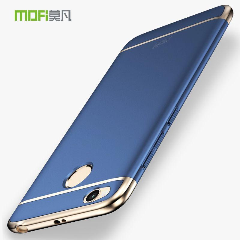 Xiaomi Redmi 4X Case Mofi 3 in 1 Metal Plastic Full Hard Back Cover For Xiaomi Redmi 4X 4 X Pro Prime Camera protection Luxury