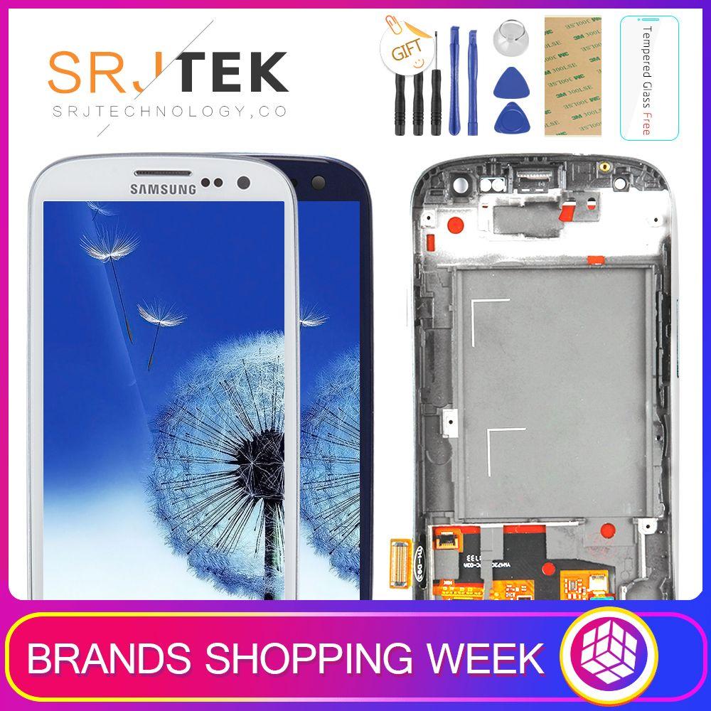 TESTÉ Pour SAMSUNG Galaxy S3 Affichage i9300 i9300i Écran Tactile Digitizer Remplacement Pour SAMSUNG Galaxy S3 LCD Écran