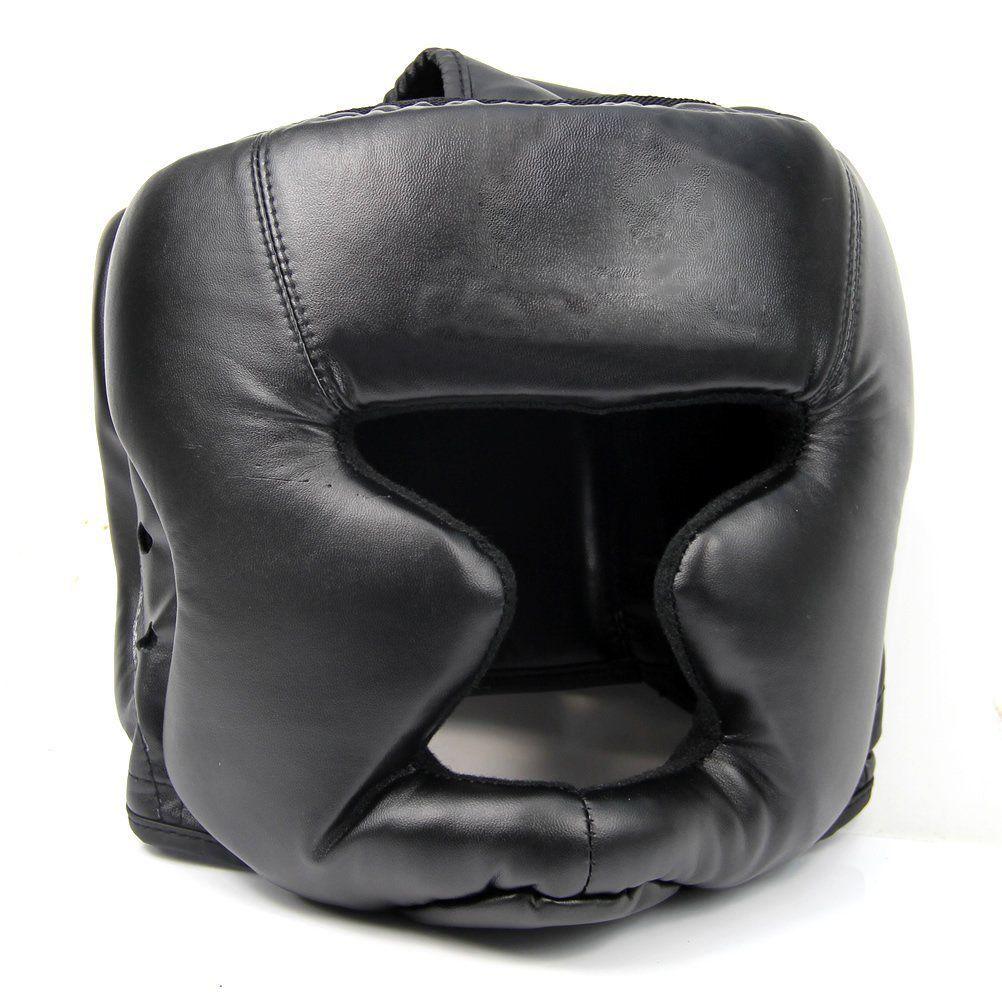 PROMOTION! bon casque noir casque d'entraînement casque de Protection de boxe coup de pied