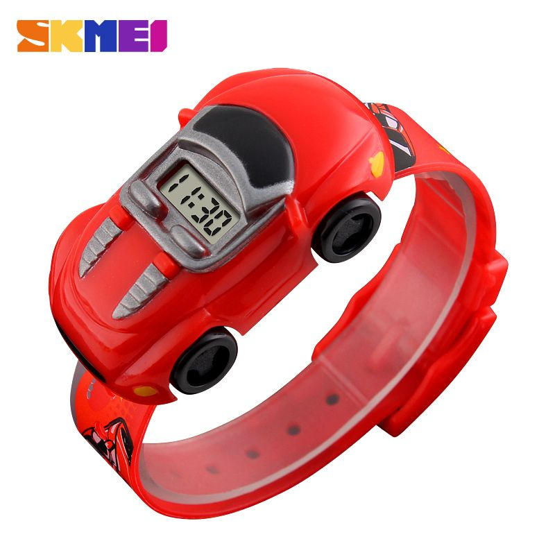 SKMEI Children Cartoon Creative Digital Watches Kids Fashion Car Black Outdoor Wristwatches For Boys Girls Student Casual Watch