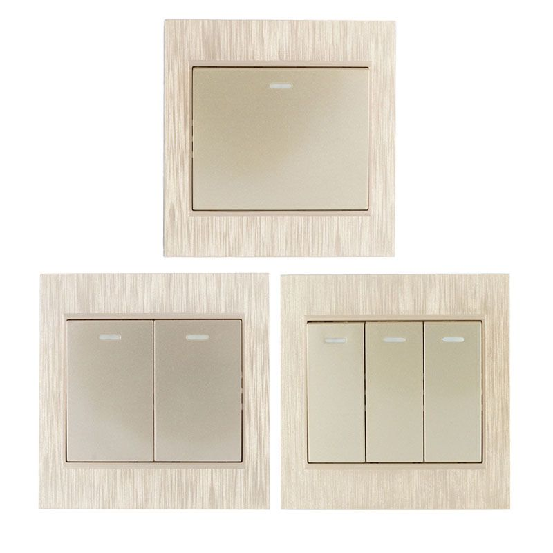 86 Wall Panel Gold Wireless Remote Transmitter 1 2 3 Channel Sticky RF TX Smart For Home Living Room Bedroom 315 / 433.92 MHZ