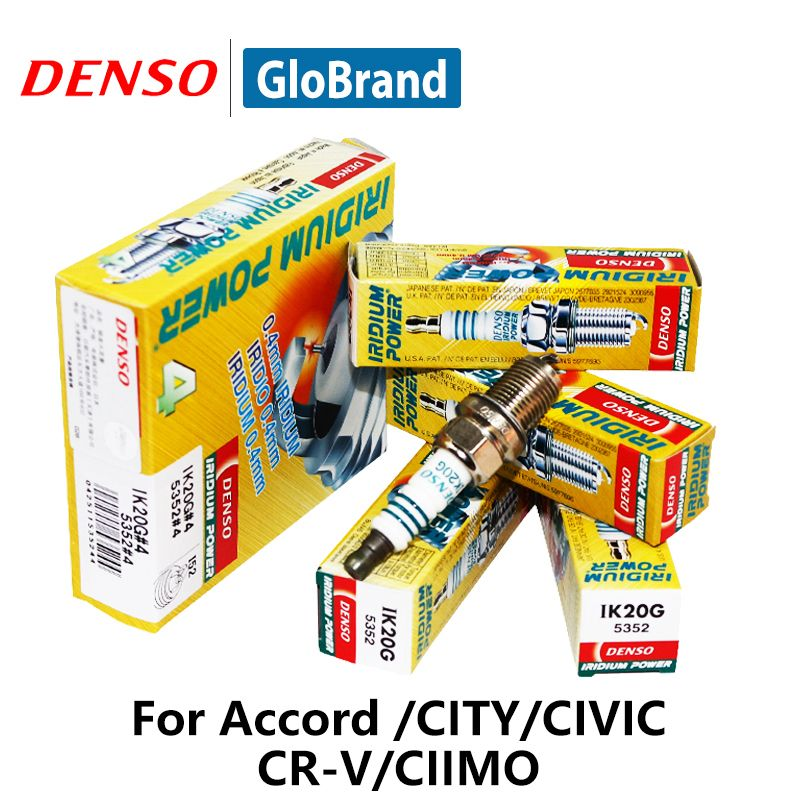 4pieces/set DENSO Car Spark Plug For Honda Accord CITY CIVIC CR-V CIIMO Iridium IK20G