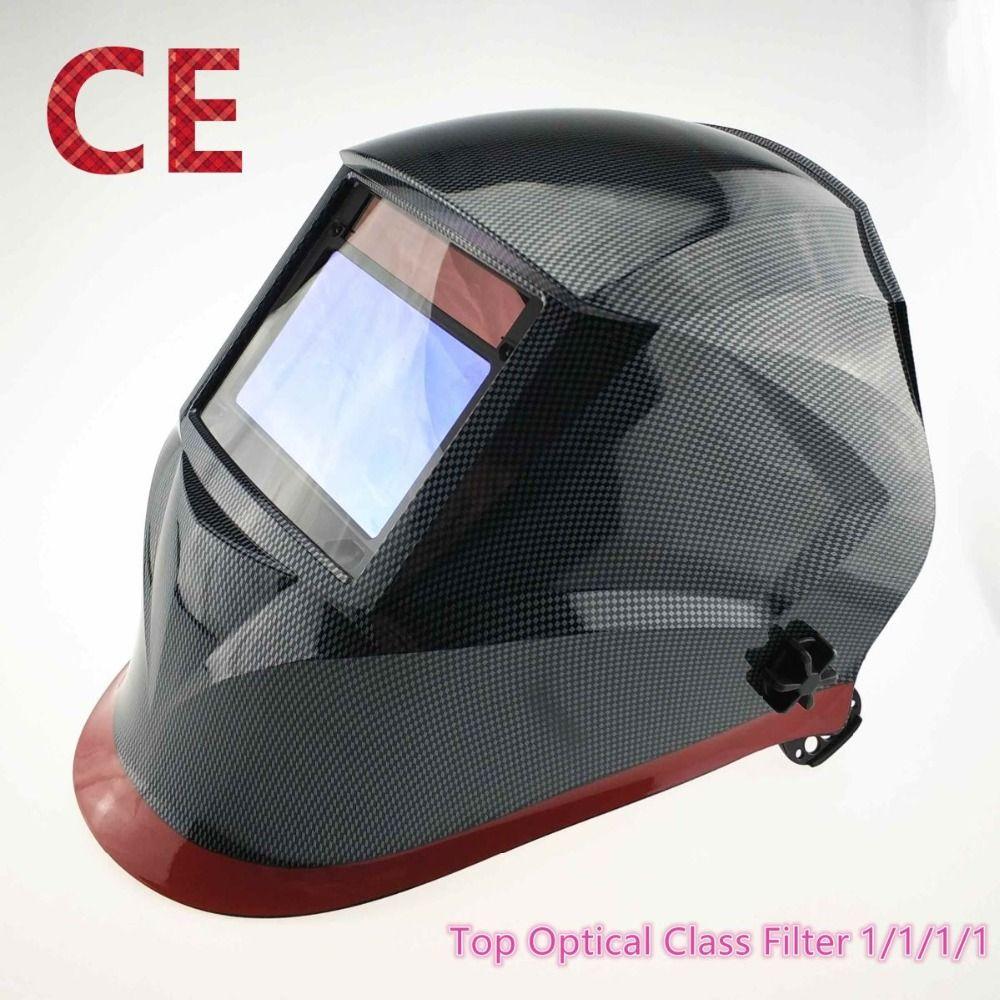 Welding Helmet 100*65mm 1111 4 Sensors Grinding DIN 3/4-13 MMA MIG/MAG TIG CE/UL/CSA/AS Cert Solar Auto Darkening Welding Mask