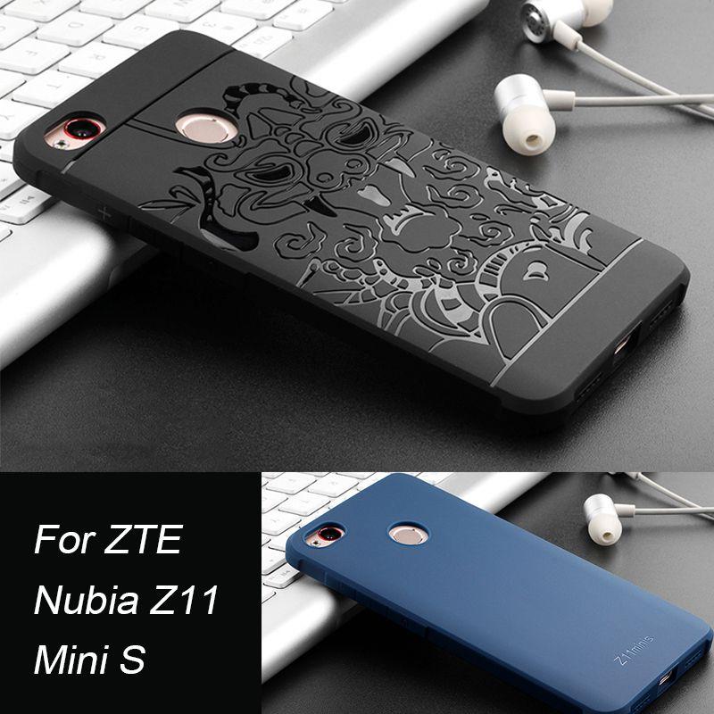 Pour ZTE Nubia Z11 Mini S cas, Dragon et d'affaires série de haute qualité Ultra mince TPU couverture arrière de shell pour Nubia z11/z11mini s