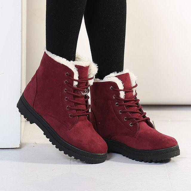 Mode chaud neige bottes 2017 talons bottes d'hiver nouvelle arrivée femmes cheville bottes femmes chaussures