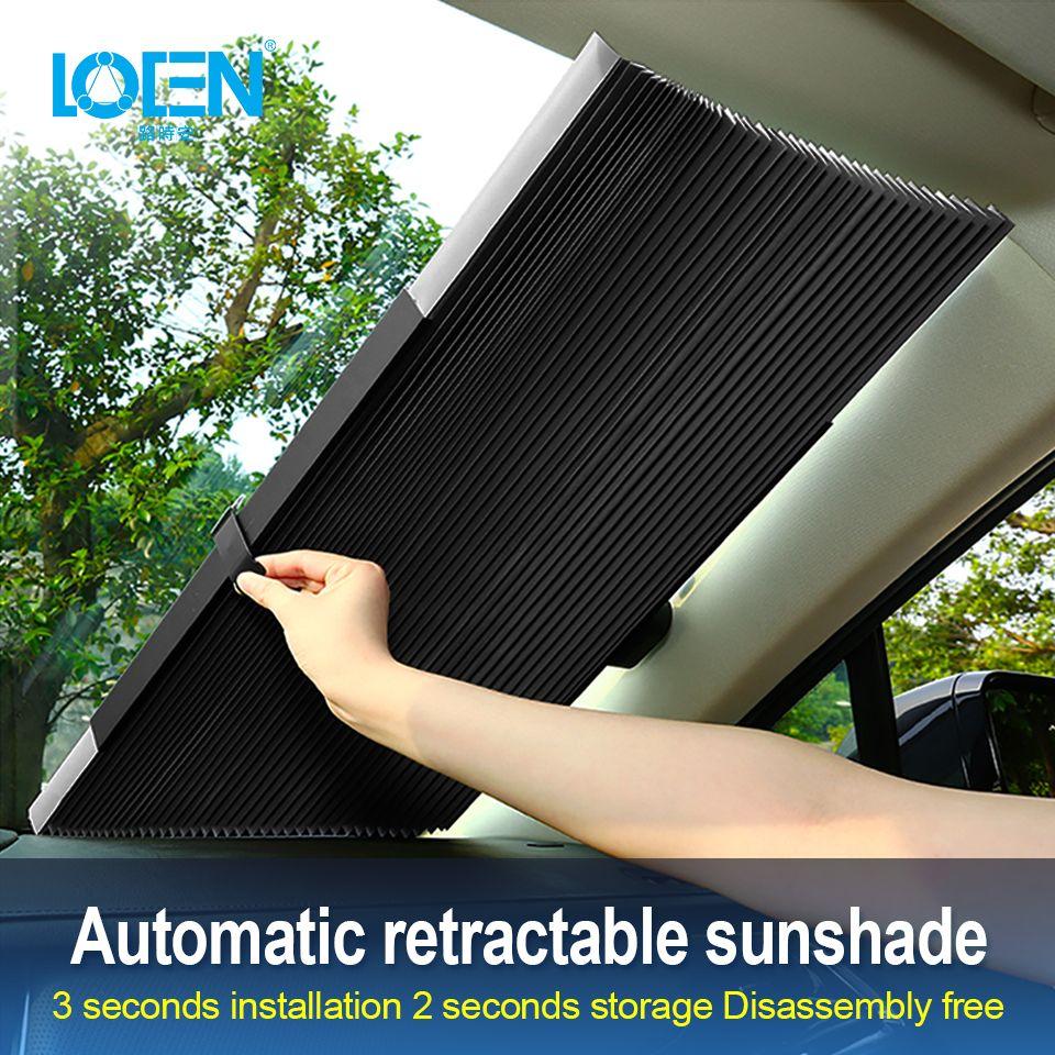 46 CM/65 CM/70 CM/80 CM Upgarde Retracta'ble SUV camion voiture avant pare-brise pare-soleil fenêtre arrière pare-soleil UV Protection rideau