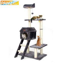 PAWZRoad saltando juguete con la escalera Scratching madera escalada árbol para gato escalada marco del gato muebles rascador Post #0201
