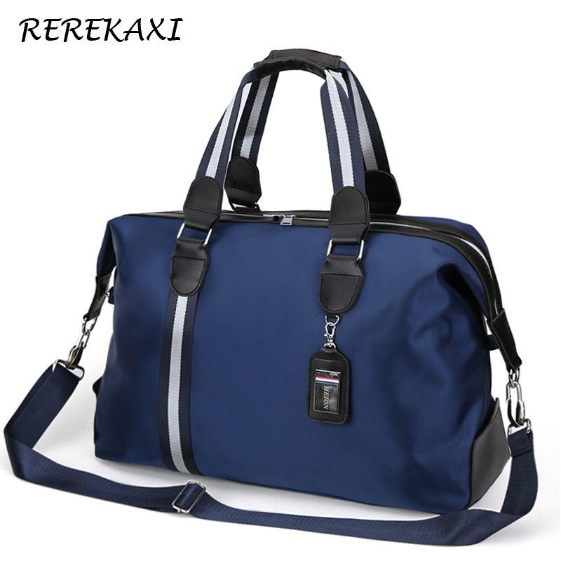 REREKAXI grande capacité sac de voyage pour hommes femmes sac de bagage à main en Nylon imperméable multifonction sacs de voyage sacs d'emballage Cubes