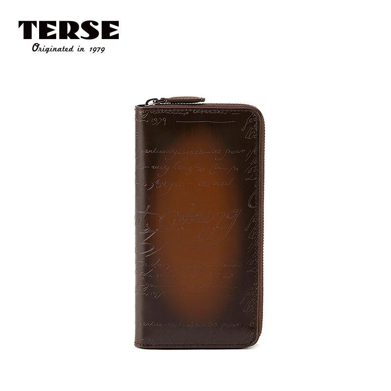 KNAPPE 2018 Neue Ankunft Brieftasche Aus Echtem Leder Geldbörse Gravur Reißverschluss Lange Brieftaschen Handmade Tasche mit Kartenhalter Anpassen Logo