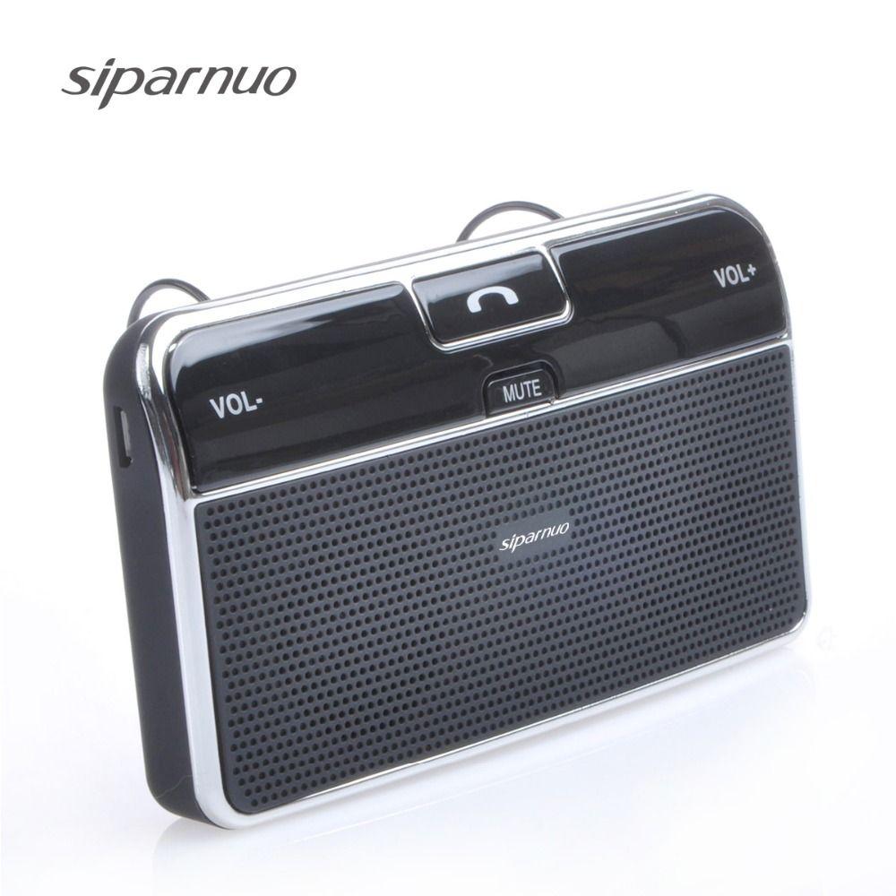 Siparnuo Aux Bluetooth Kit de voiture manos libres bluetooth telef mains libres haut-parleur avec USB Bluetooth haut-parleur mains libres téléphone