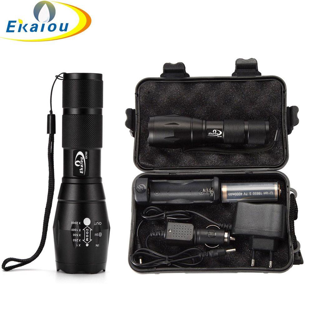 Chaude XML T6 5000 Lumens LED Tactique Torche Étanche De Poche Zoom lampe de Poche AAA ou 18650 batterie Portable Lampe Torche