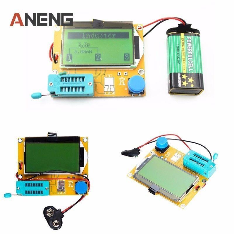 V2.68 ESR-T4 Mega328 Digital Transistor Tester Diode Triode Capacitance ESR Meter MOS/PNP/NPN LCR 12864 LCD screen